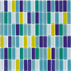 Assorted Colors Glass Mosaic Tile