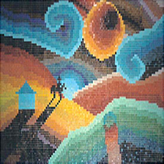 Picture Patterns Glass Mosaic Tile