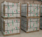 Pallets of wall tiles in China